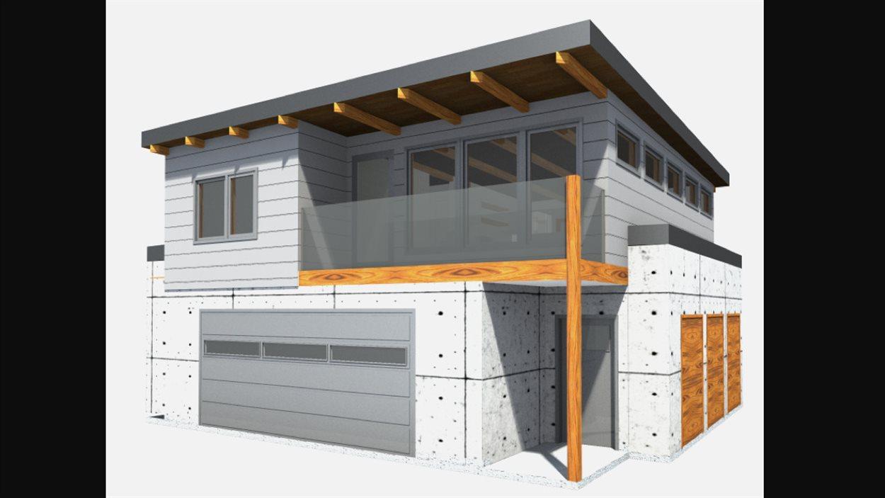 Un garage avec appartement à l'étage.