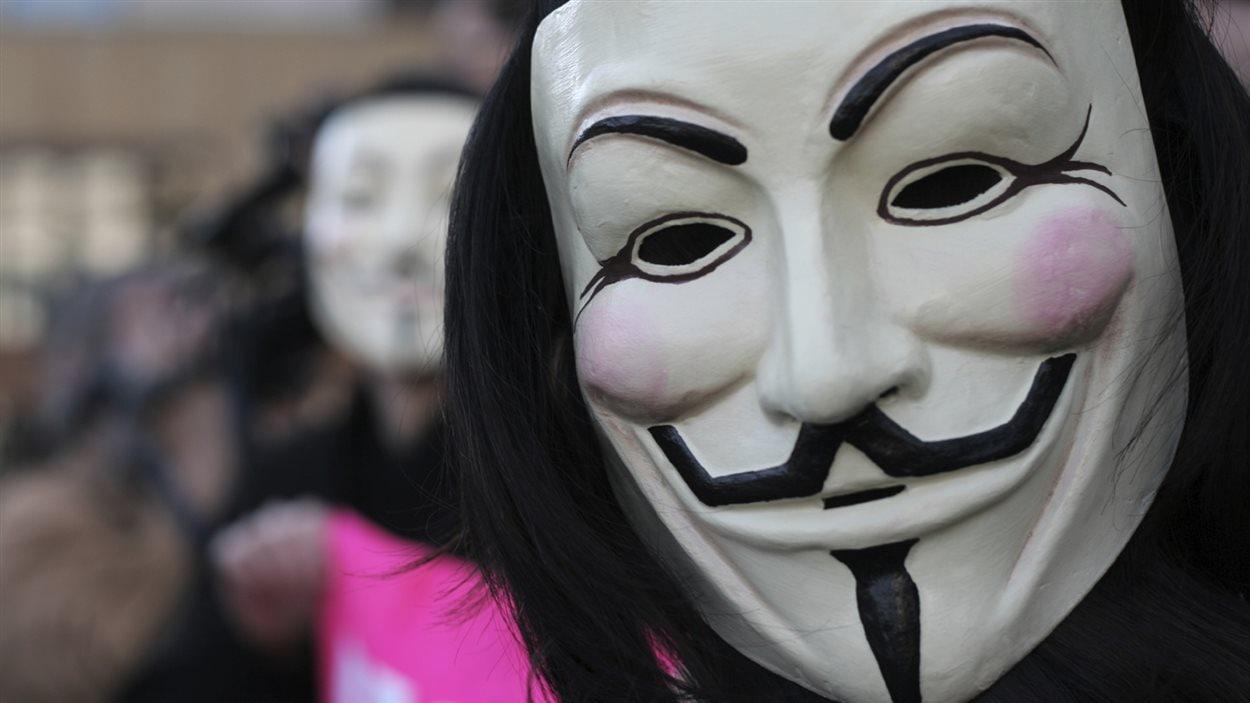 Un membre du collectif Anonymous