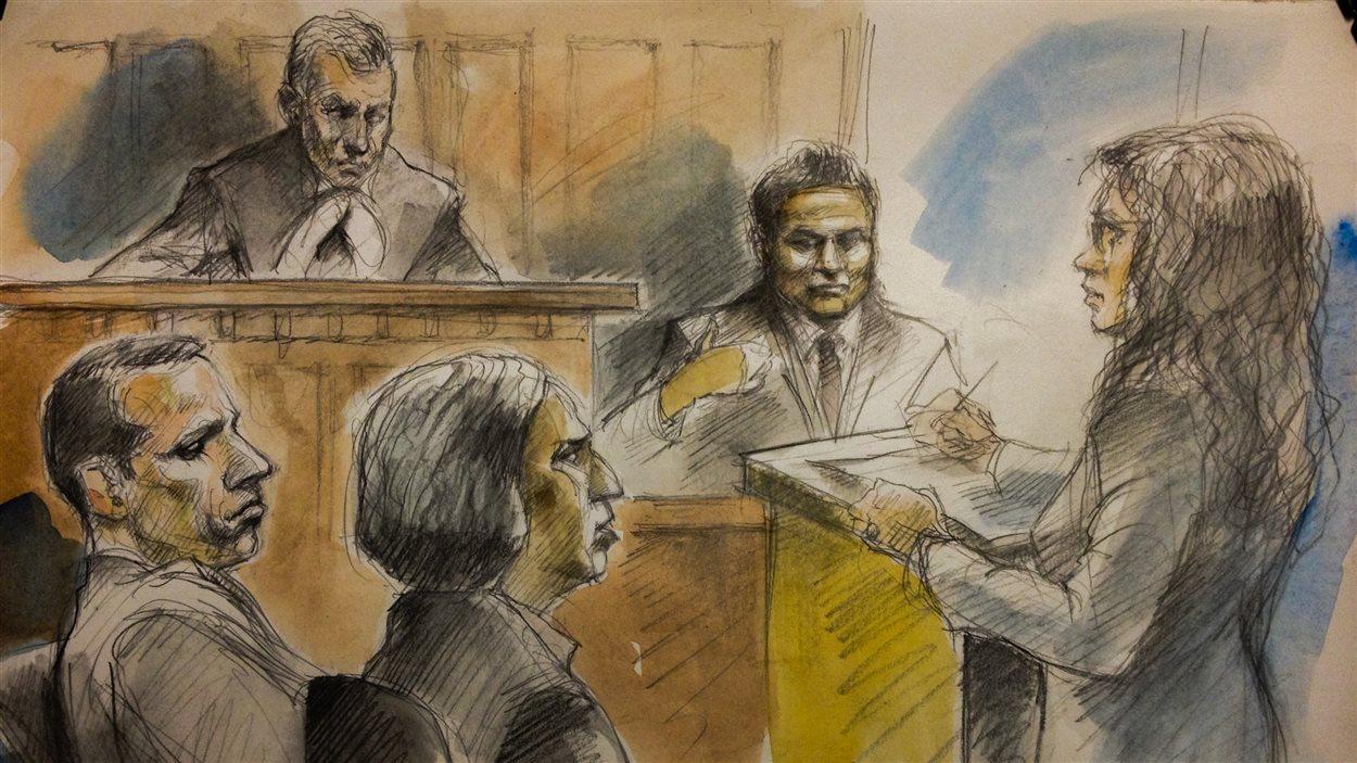 Les accusés: Alessandro Lisi (à g.) et Jamshid Bahrami