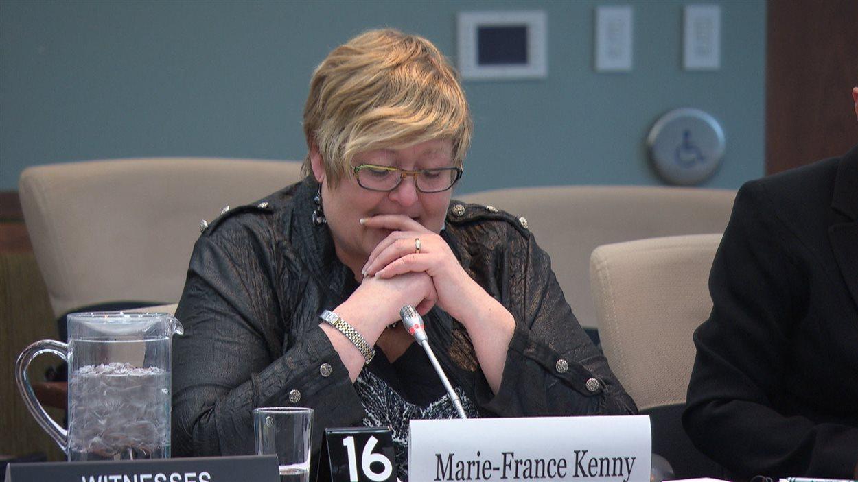 C'est avec beaucoup d'émotion que la présidente de la FCFA, Marie-France Kenny, a parlé devant un comité parlementaire des défis liés à l'immigration francophone au Canada.