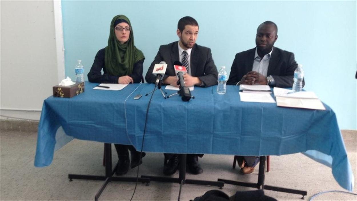 Les responsables du Centre culturel musulman de Shawinigan