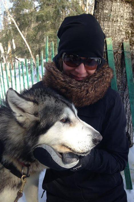 La journaliste Julie Larouche s'est fait un nouvel ami lors du tournage