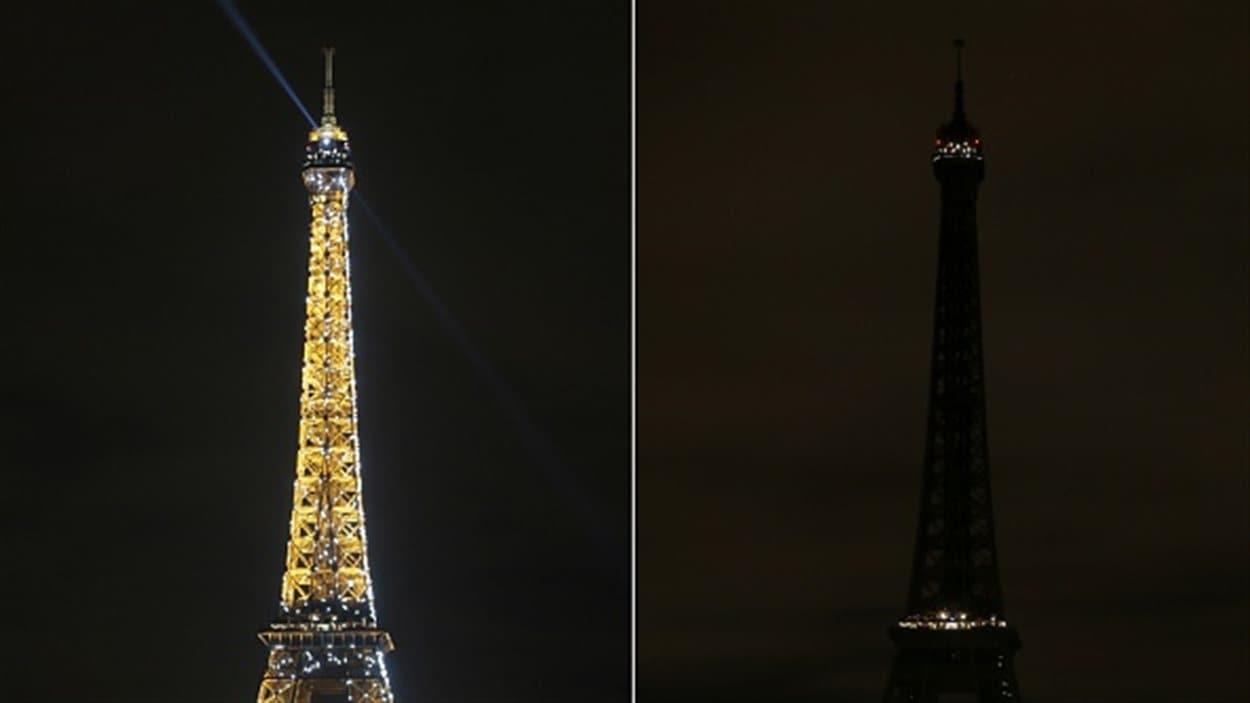 La tour Eiffel a été plongée dans le noir dans le cadre d'Une heure pour la terre, samedi