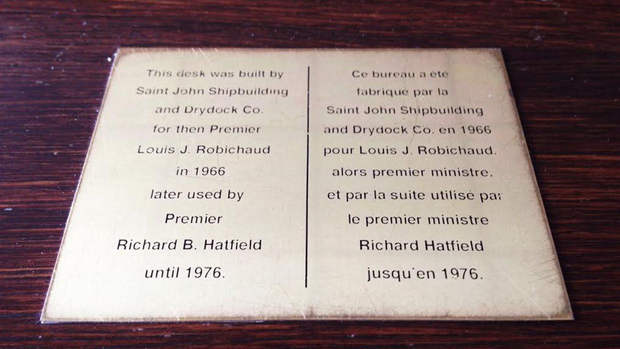 Le bureau du premier ministre du Nouveau-Brunswick