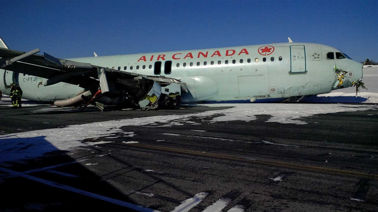 Avion accidenté d'Air Canada