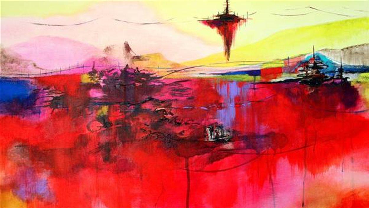 Oeuvre intitulée, De la terre à la terra 3 de l'artiste Sophie Ouellet