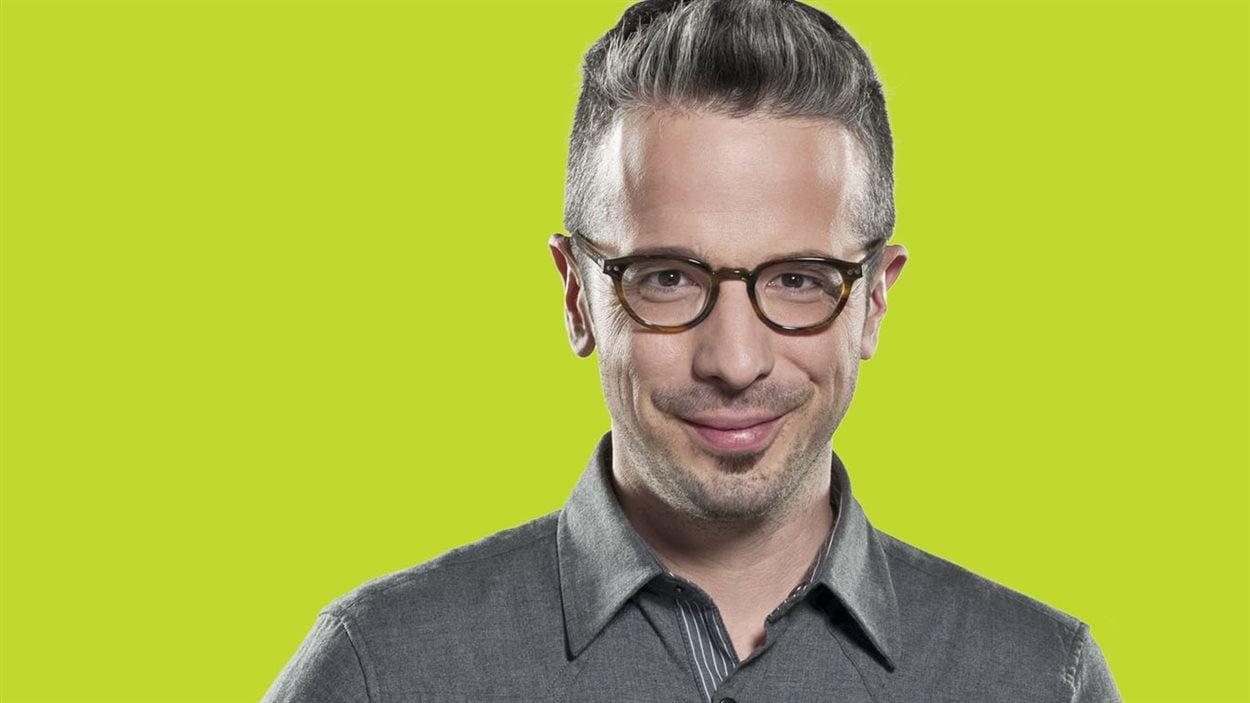 Matthieu Dugal, l'animateur de «La sphère» sur ICI Radio-Canada Première.