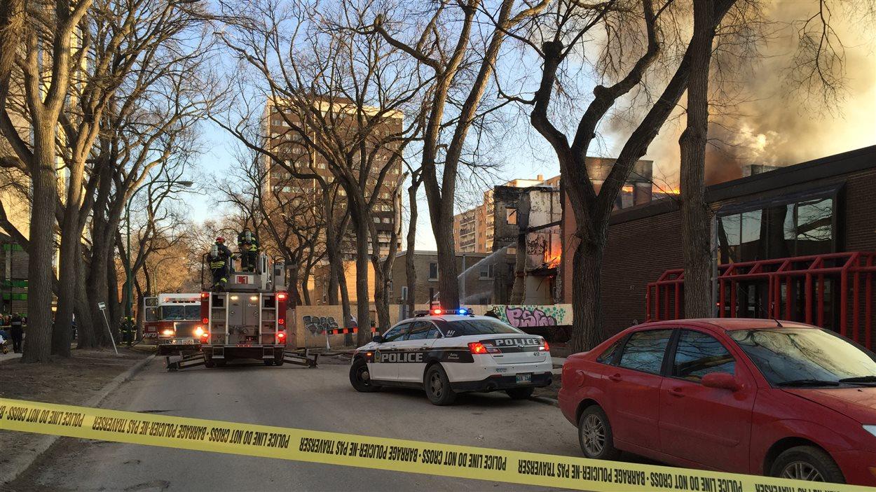 Incendie dans un immeuble abandonné de la rue Hargrave.
