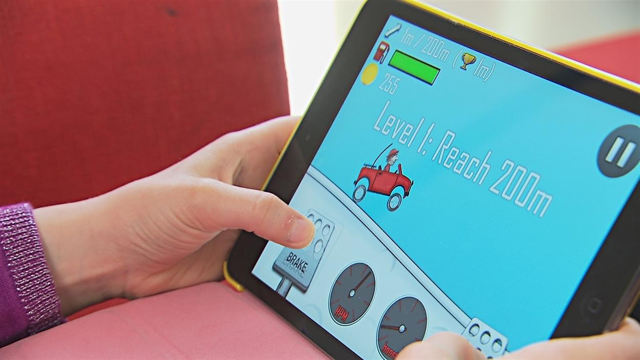 Un jeu pour tablette électronique
