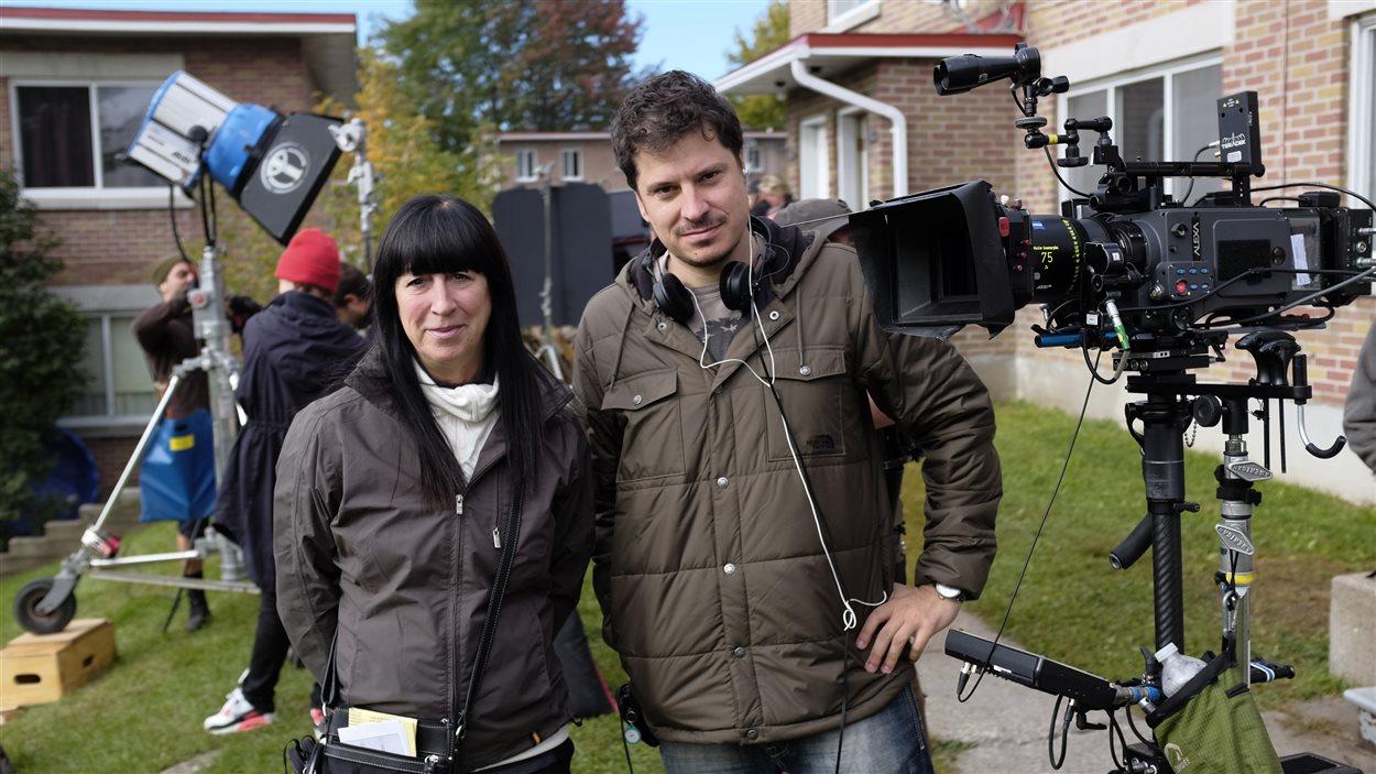La productrice Nicole Robert et le réalisateur de <em>Noir</em>, Yves Christian Fournier
