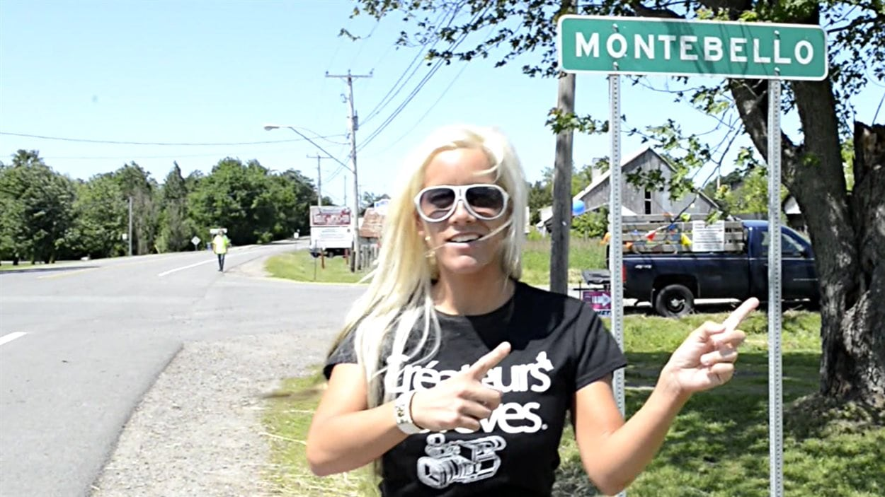 Une image extraite du film pour adulte tourné lors du Rockfest, à Montebello.