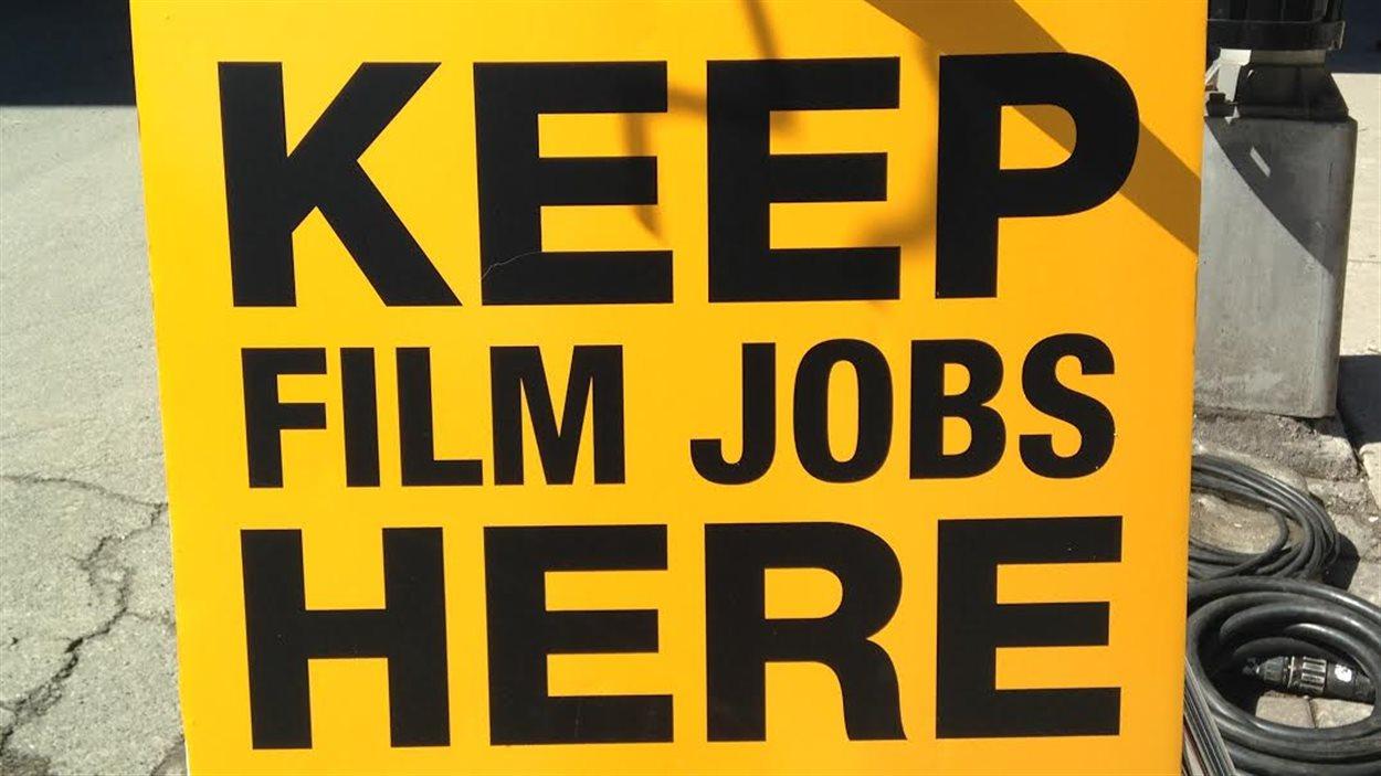 Manifestation des artisans du cinéma à Halifax