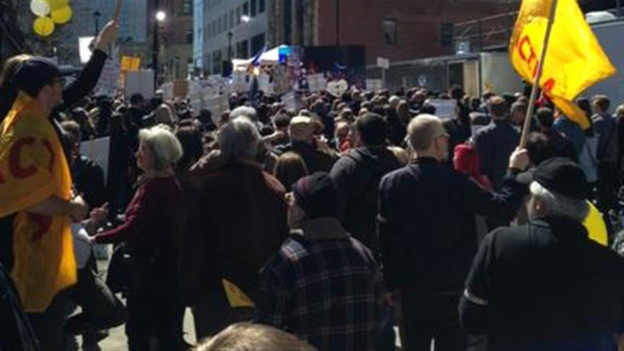 Manifestation à Halifax