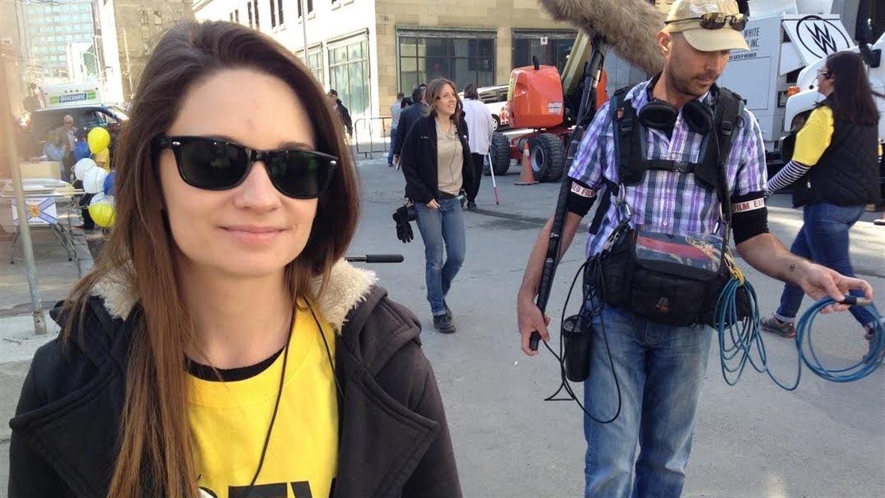 Manifestation du milieu du cinéma à Halifax