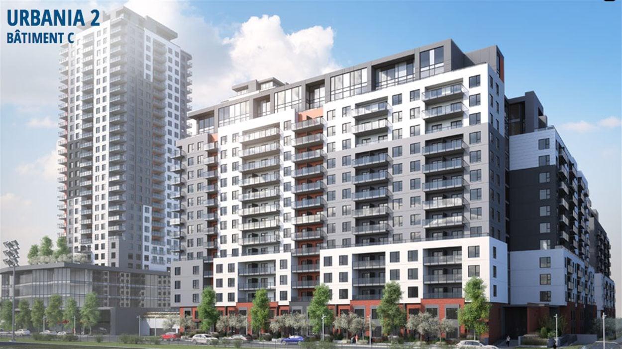 Le projet Urbania 2, situé au nord-ouest du métro Montmorency, dont la construction du premier immeuble devrait commencer en 2015.
