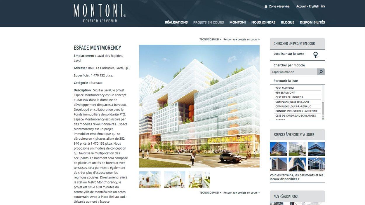 Le projet Espace Montmorency, du promoteur Montoni. Un complexe commercial de 4 phases évalué à 420 millions de dollars.