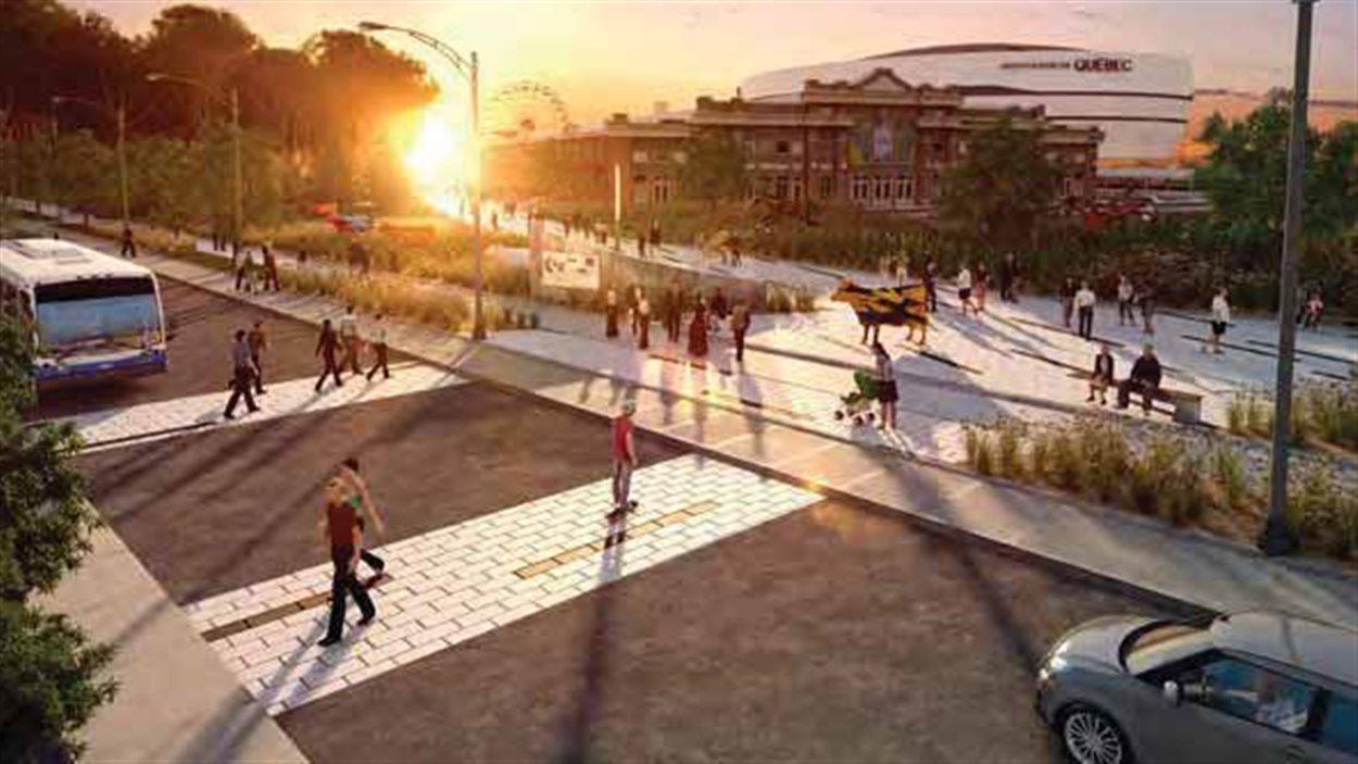 Le comité suggère de retirer le clôture d'enceinte à ExpoCité afin de créer des espaces et accès piétonniers.