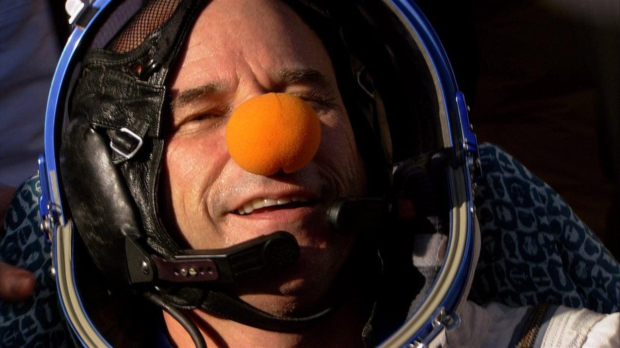 Guy Laliberté lors de son voyage dans l'espace