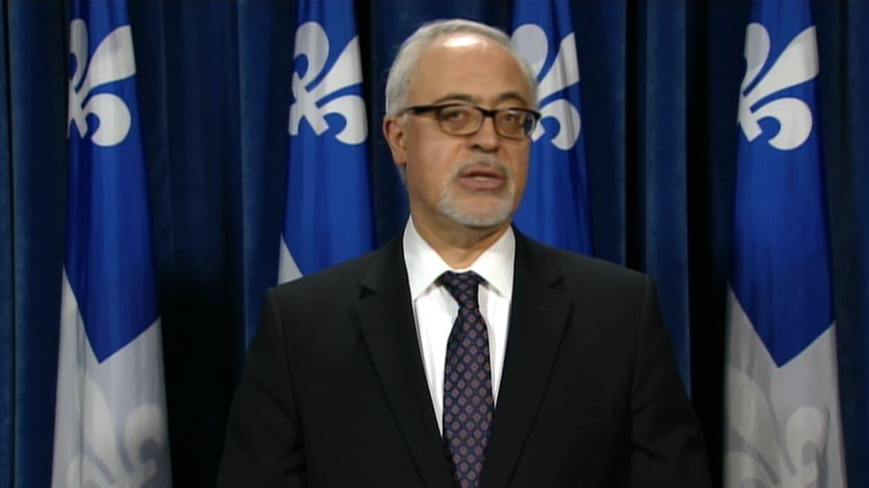 Le ministre des Finances du Québec Carlos Leitao