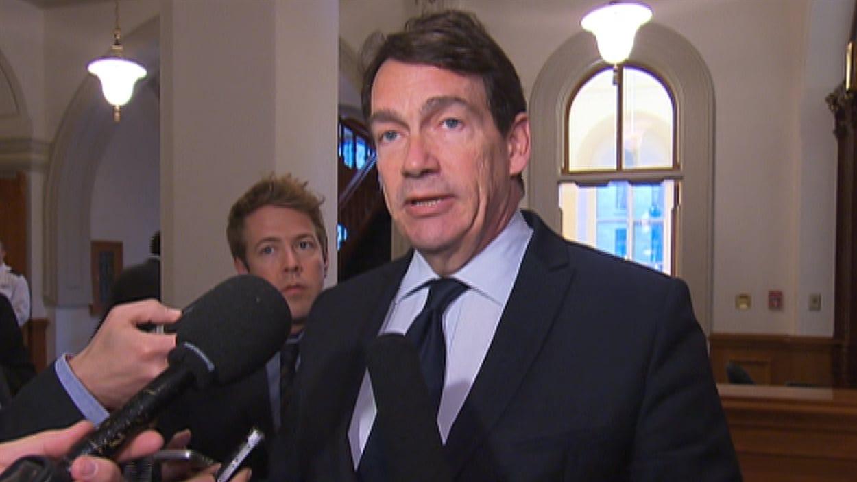 Pierre Karl Péladeau, jeudi, à l'Assemblée nationale.