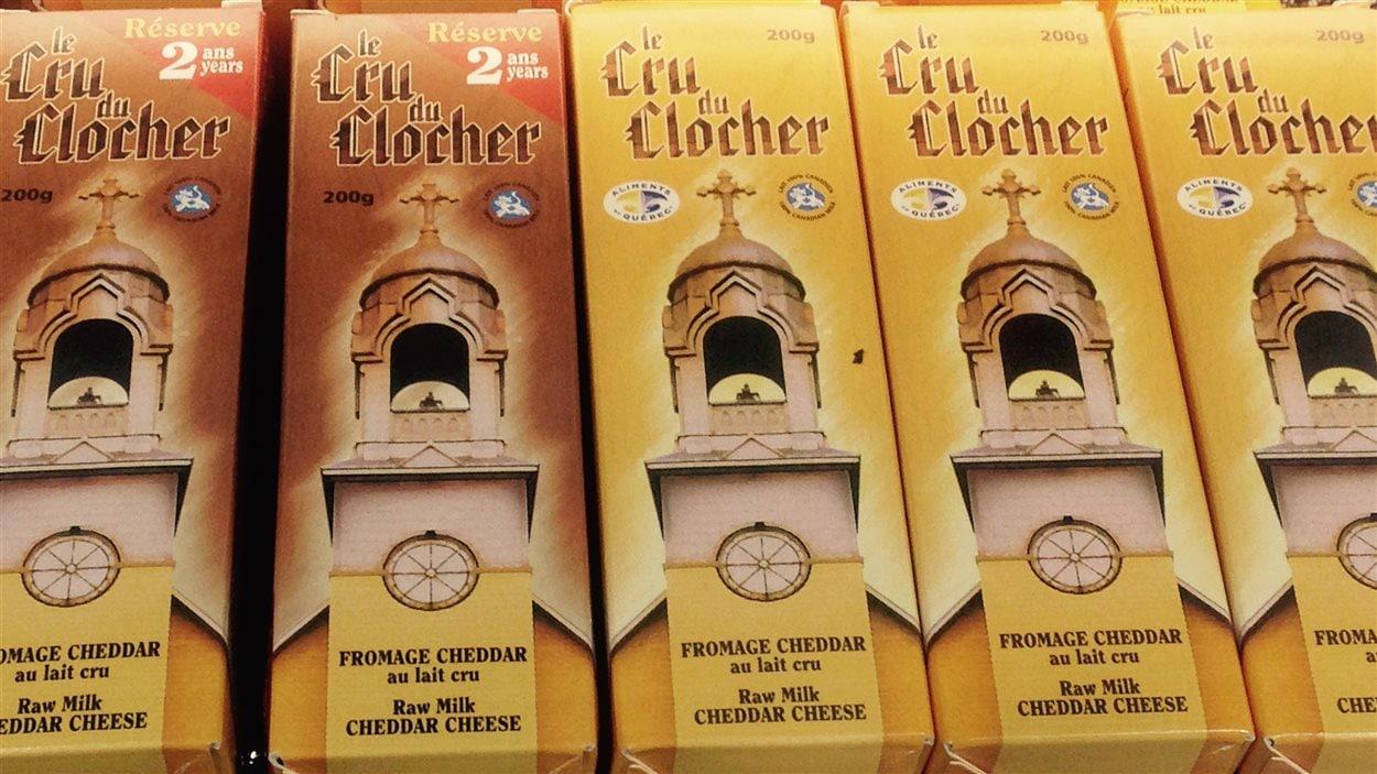 Fromage Cru du Clocher, de la fromagerie Fromage au village de Lorrainville, Témiscamingue.
