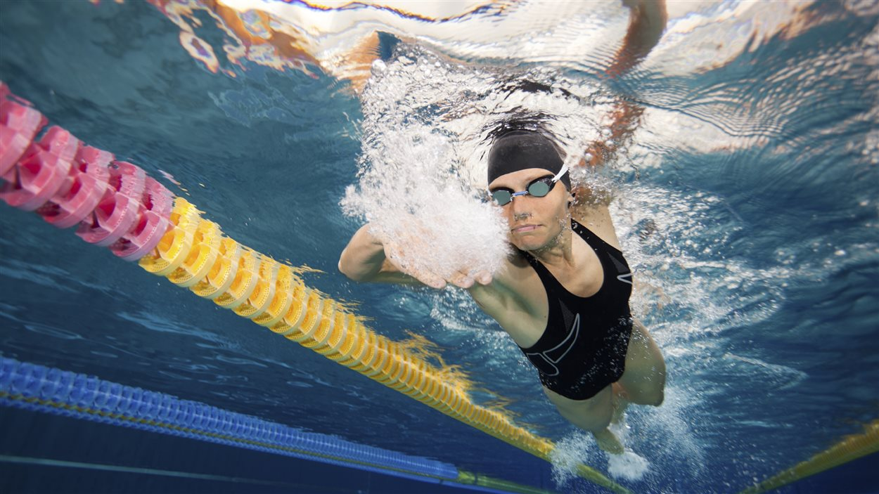 Un nageuse