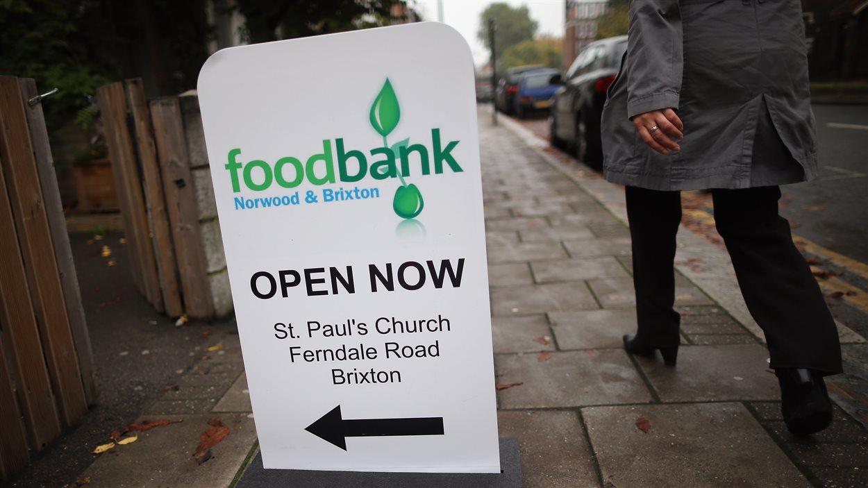 Une banque alimentaire à Londres