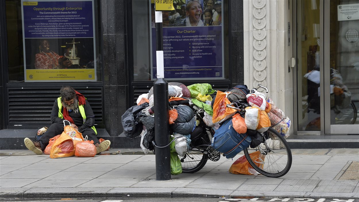 Un sans-abri à Londres