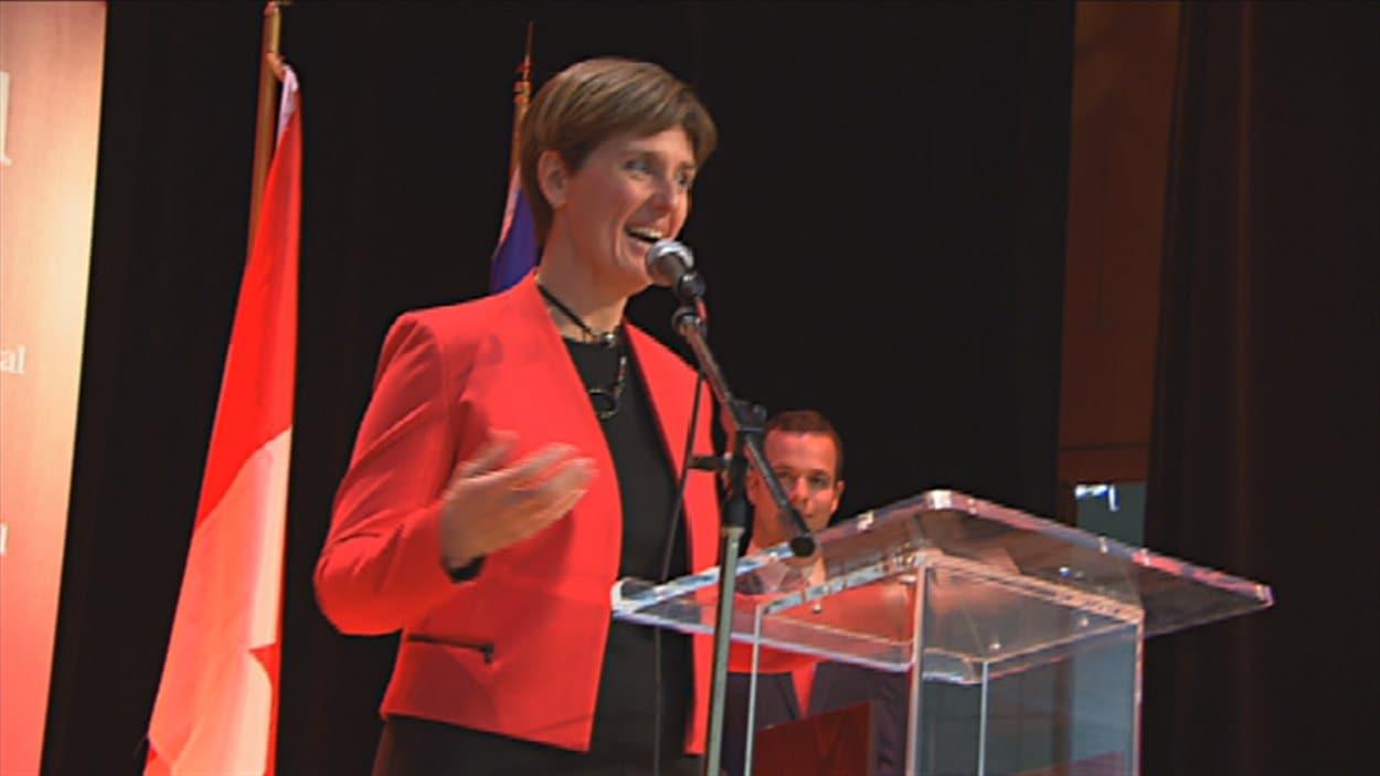 La candidate libérale dans Compton-Stanstead, Marie-Claude Bibeau