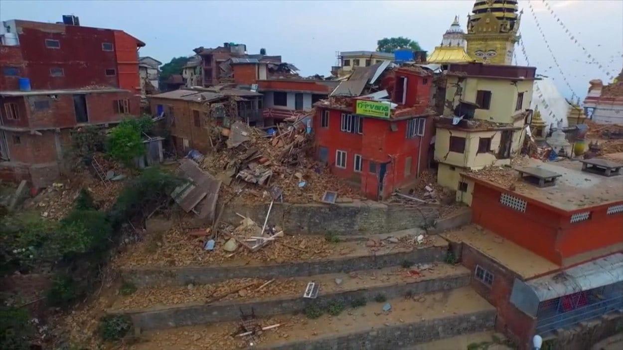 katmandou, la capitale du Népal après le tremblement de terre de vendredi