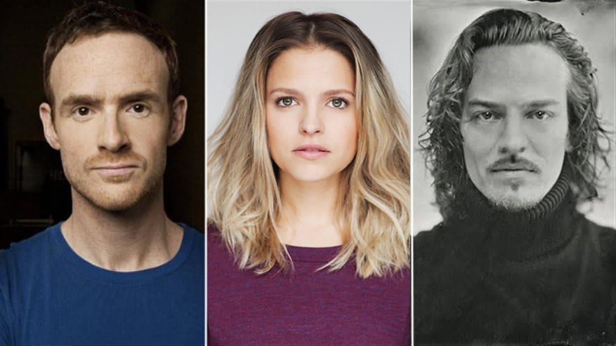 Vincent Leclerc (Séraphin), Sarah-Jeanne Labrosse (Donalda) et Maxime Le Flaguais (Alexis)