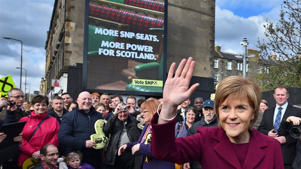 La première ministre de l'Écosse et chef du SNP, Nicola Sturgeon, le 30 avril 2015, à Édimbourg.