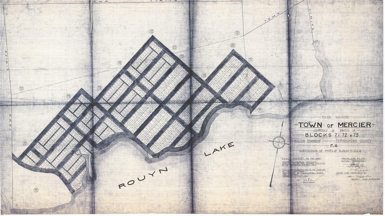 Le village de Mercier, tel que projeté en 1927