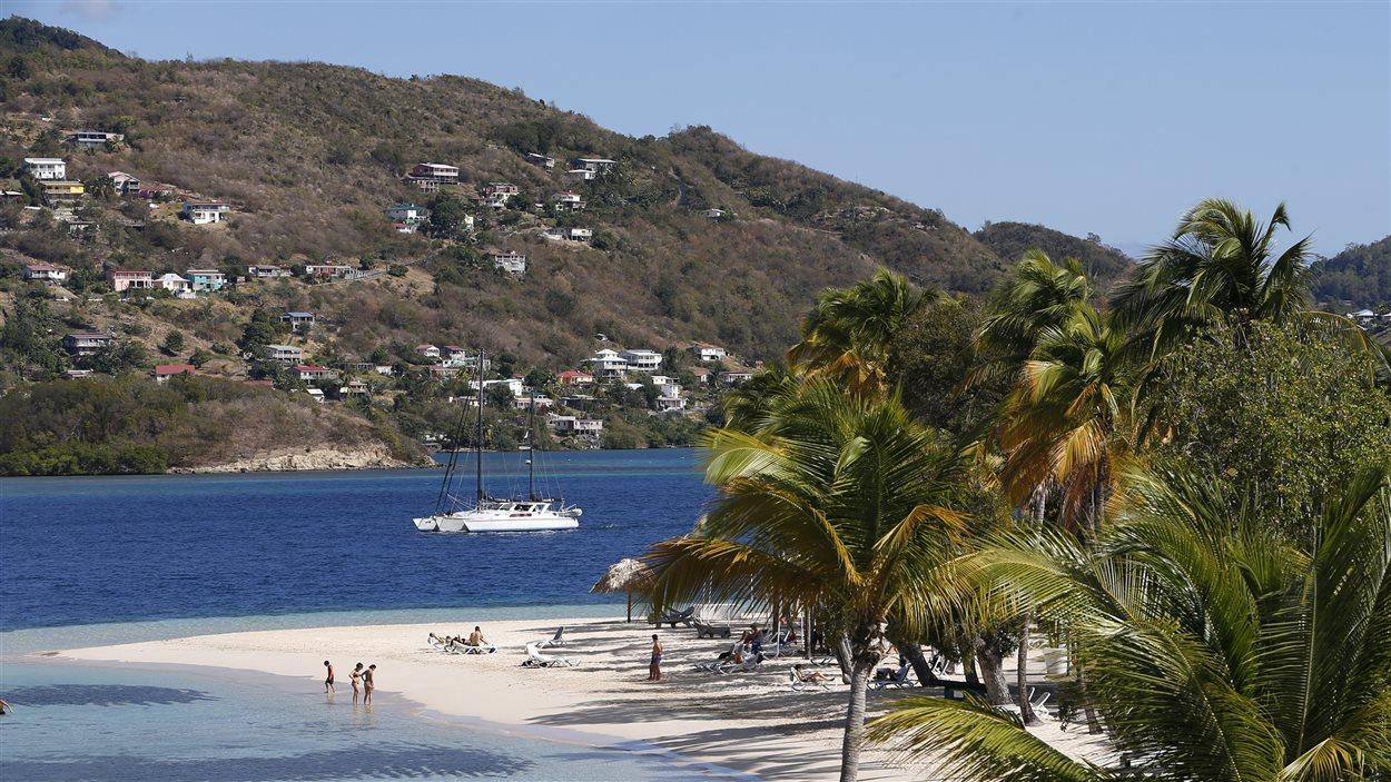 Vue de la plage de Sainte-Anne, en Martinique