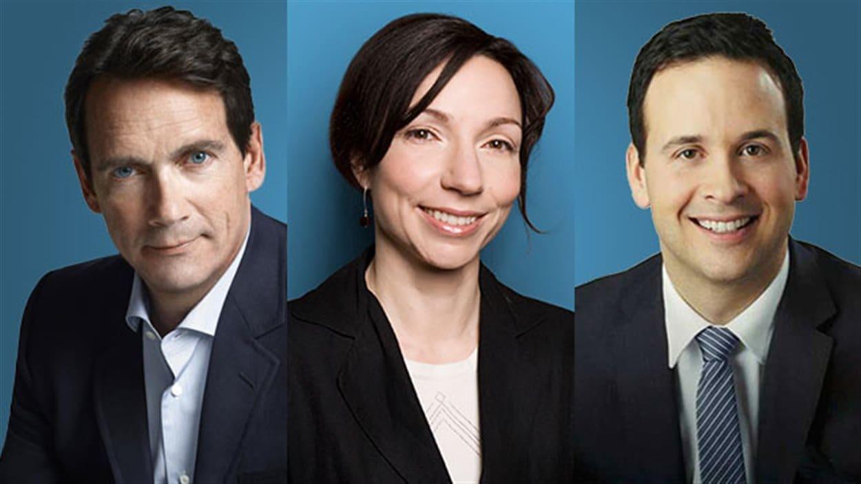 Pierre Karl Péladeau, Martine Ouellet et Alexandre Cloutier