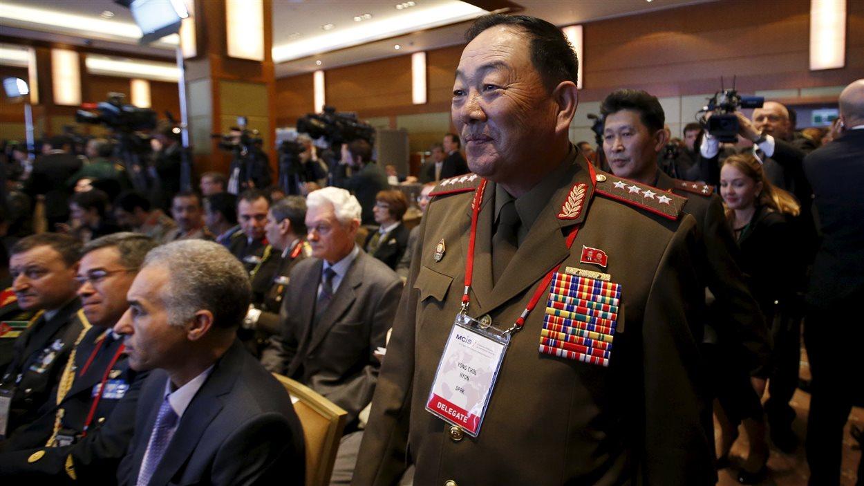 Le ministre nord-coréen de la Défense, Hyon Yong Chol, à Moscou, le 16 avril 2015.