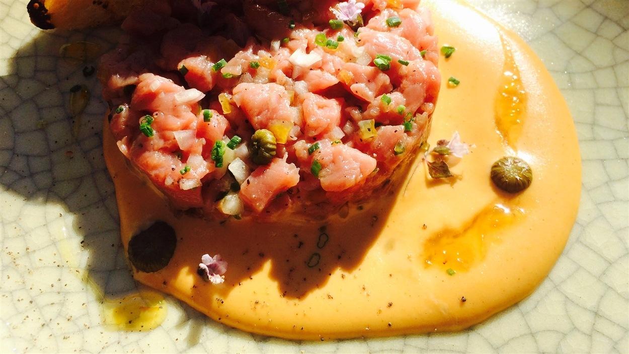 Tartare de veau et mayonnaise au thon façon vitello tonnato
