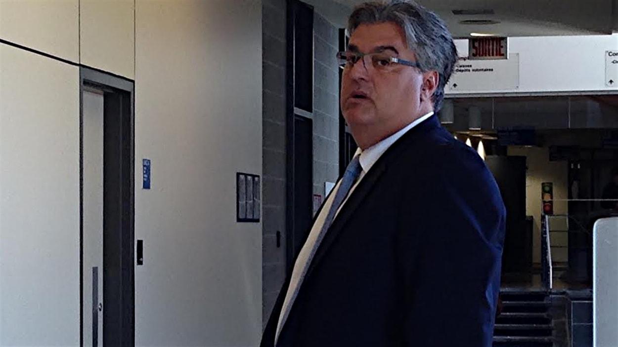 Lino Zambito au palais de justice de Saint-Jérôme