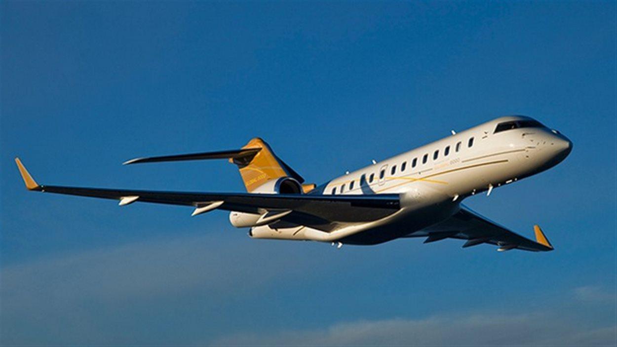 Un jet d'affaires Global 5000 de Bombardier