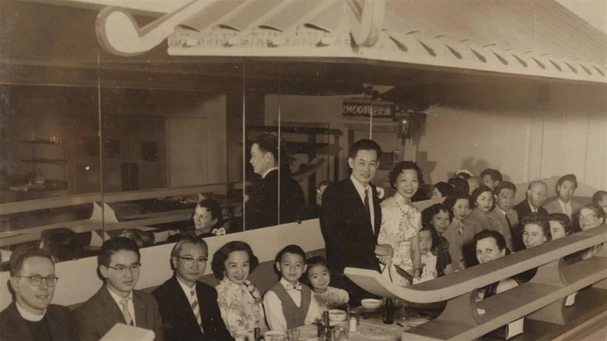 Banquet au Radio Grill suite à un mariage dans la communauté chinoise de Rouyn-Noranda