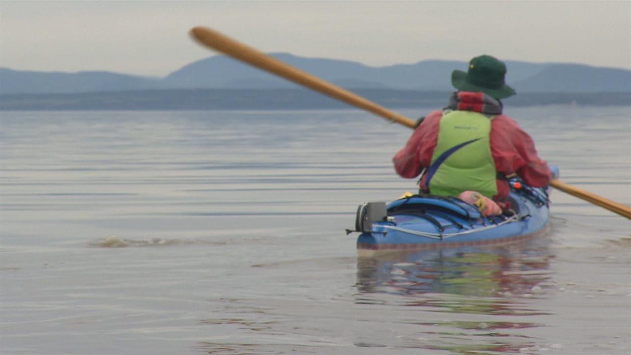 Le kayakiste Christian Morneault