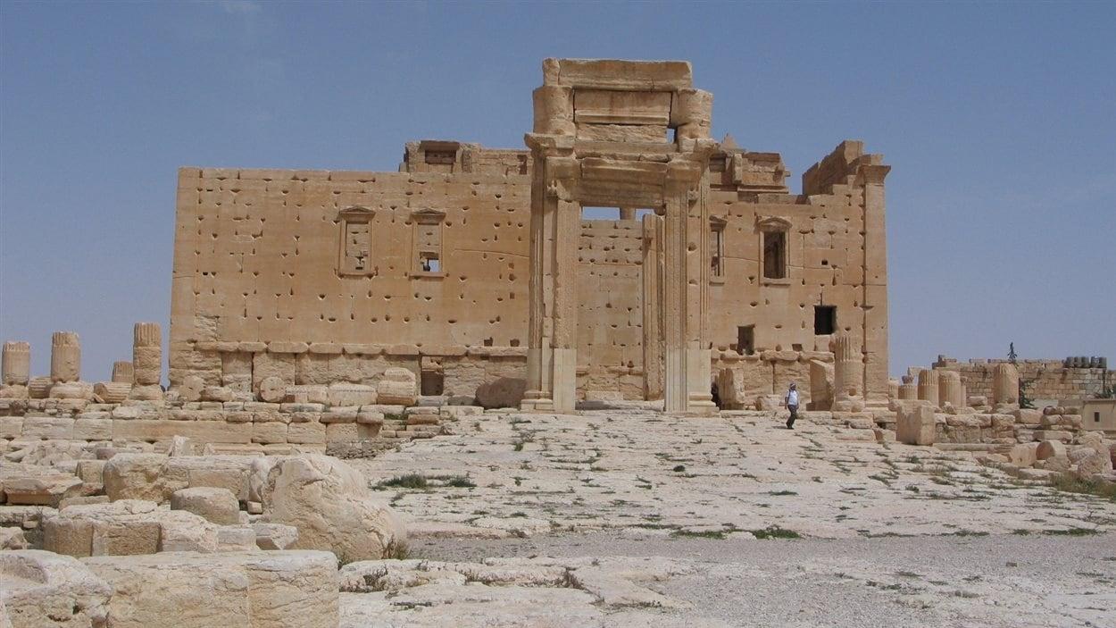 La porte ouest du temple de Baal, à Palmyre en Syrie