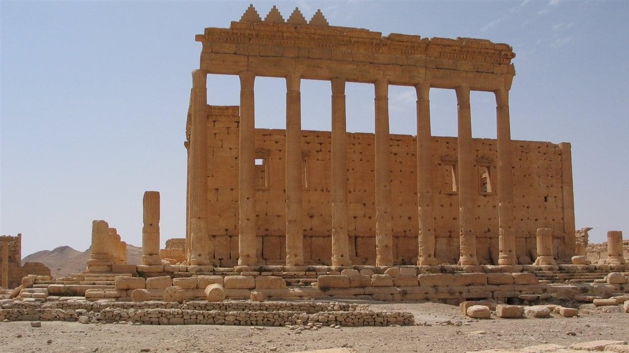 L'intérieur du temple de Baal, en Syrie