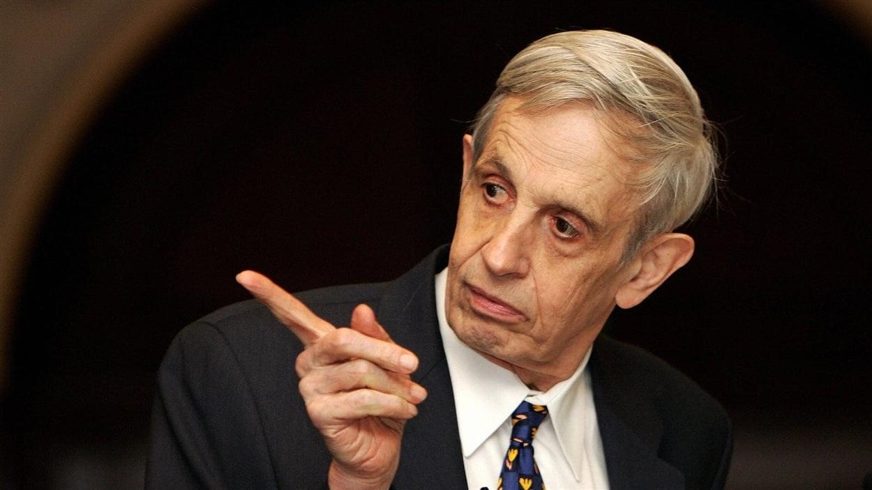 Le détenteur du prix Nobel de l'économie en 1994, John Nash, èa New Delhi en 2007.