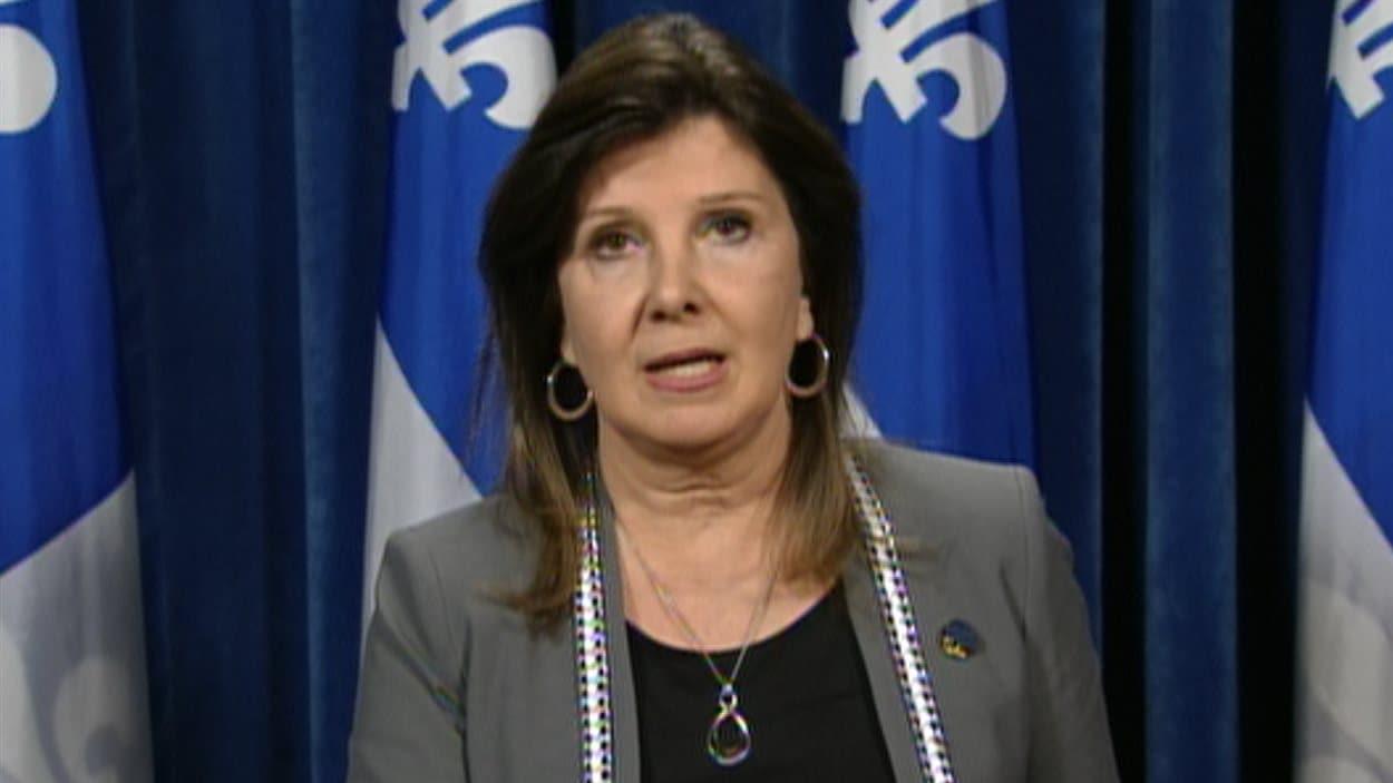La porte-parole du Parti québécois en matière de santé, Diane Lamarre.