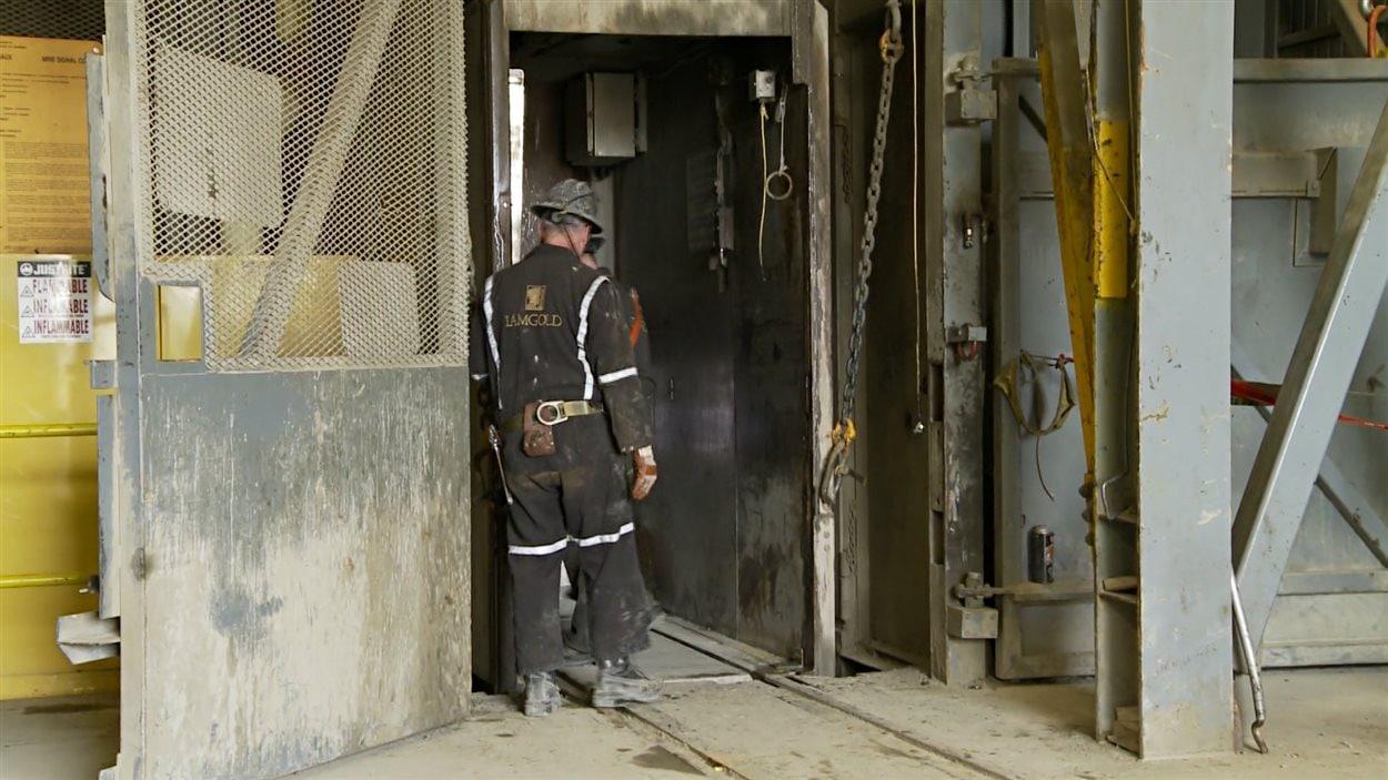 Images tournée à la mine Westwood de Preissac, en Abitibi