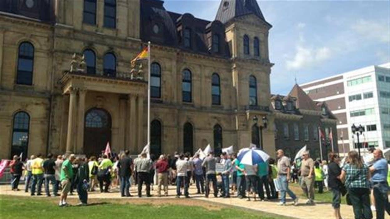 Manifestation à Fredericton