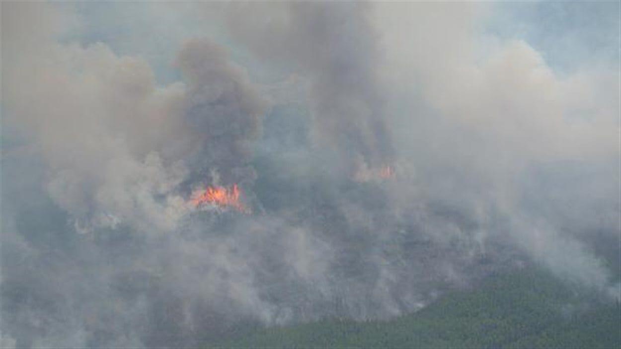L'incendie dans la région de Cold Lake.