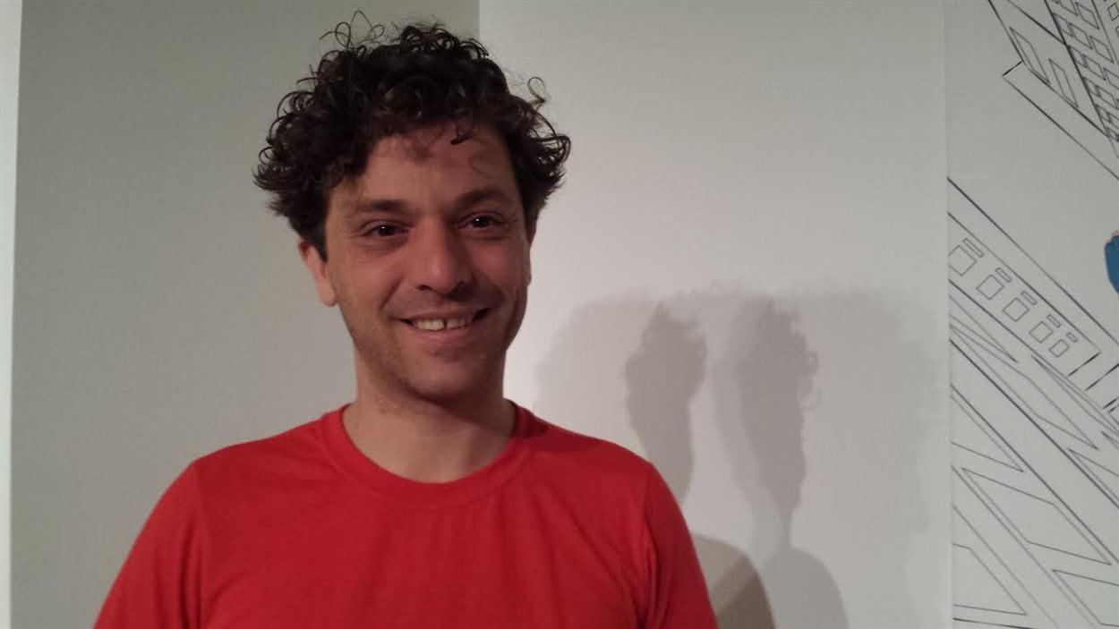 Le comédien Alexandre Castonguay
