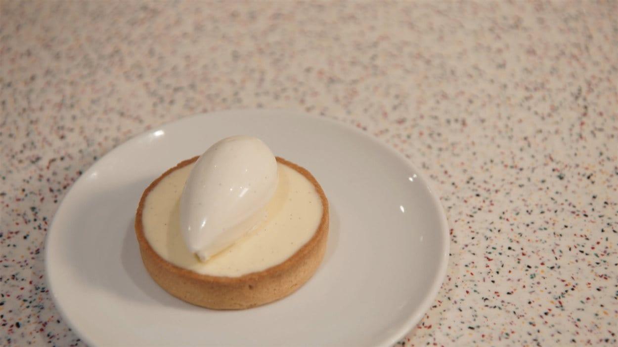 Chantilly au chocolat blanc et à la vanille